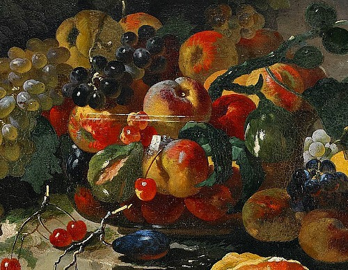 Giovanni Paolo Castelli Fruit Still Life, detail 17th century