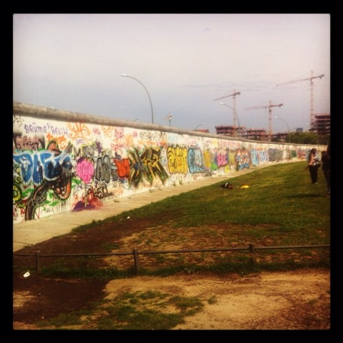 Went to the Berlin Wall today… #yolo #berlinorbust #berlinwall #germany #art #peace (Taken with Instagram at East Side Gallery)