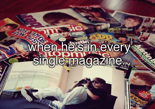 Isn't it beautiful when you know more about him than the magazine?