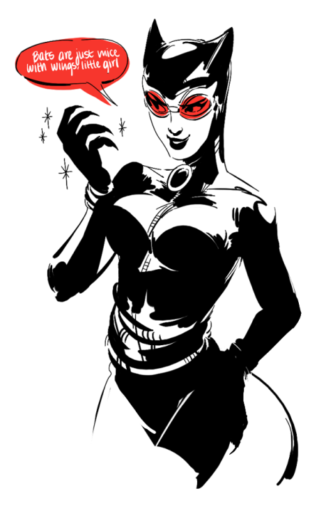 areyoujun:  I guess I'm gonna do a thing where I draw a catwoman everyday until The Dark Knight Rises comes out :Y