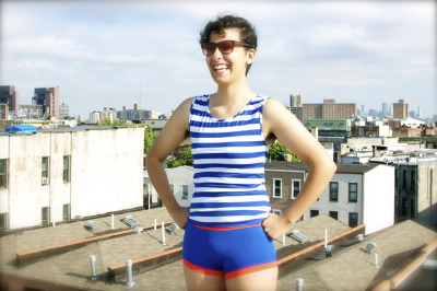 Coney Island Swim Top Inspired by 1920's men's swimwear, Marimacho's reinterpretation combines classic style with modern fit. The Coney Island Swim Top can be mixed-and-matched with the Super Boi or Aqua Boi Swim Brief. Designed to provide maximum coverage and a masculine silhouette, the scoop neck hits high on your chest but lands lower in the back. Whether you're a beach bum or a thrill-seeker with a day off, our Coney Island Swim Top is your perfect match. 100% breathable stretch lycra, Fully lined PRE-ORDERS START JUNE 15th *Special Pre-Order Prices For A Limited Time* shop || Marimachobk.com || queer fashion