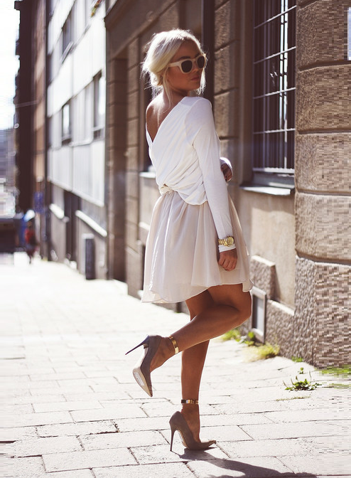 Shoes from Jimmy Choo/Dress from H&M/Cuffs from Romwe/Sunnies from H&M/Top from Chicy.se/(image: angelicablick)