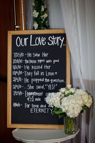the-blushing-bride:  your love story  cute wedding ideas  www.brayola.com