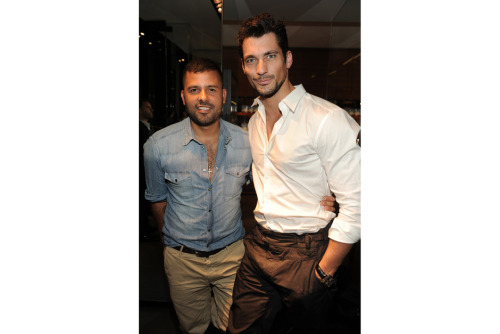 allaboutdavidgandy:   Mariano Vivanco (creative genius) with David Gandy (supermodel) in Milan