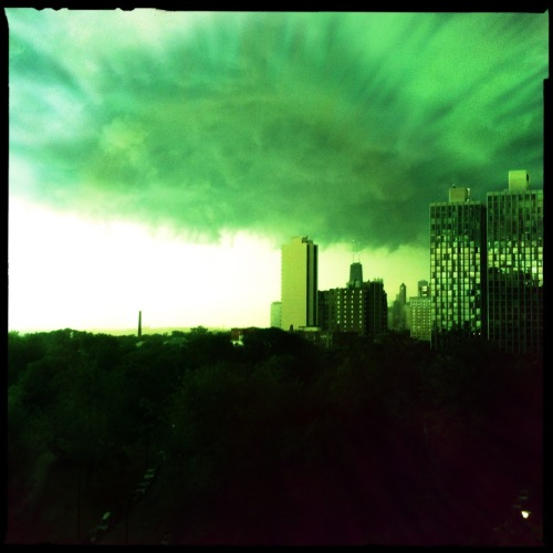A storm approaches.  Matty ALN Lens, Blanko Noir Film, No Flash, Taken with Hipstamatic