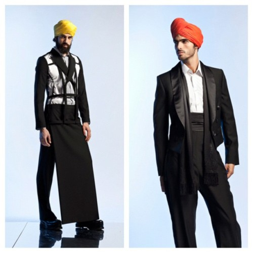 Gaultier Men's Spring 2013- I said Sheik Chic about 30x while scrolling through the images (Taken with Instagram)