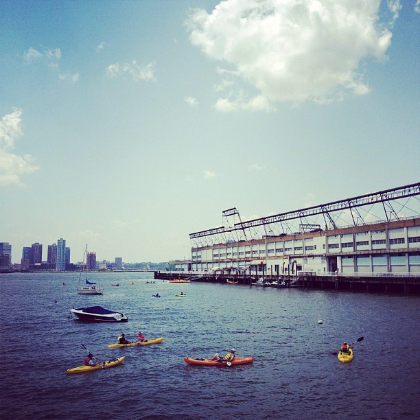 It's so hot outside even a swim in the Hudson seems like a good option. (Taken with Instagram at Hudson River Park)