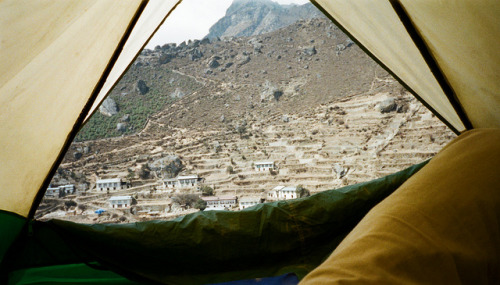 View of Namche from Tent by John Pavelka on Flickr.