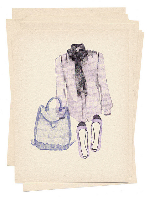 neverbreakthechain:  Backpacks, Bows & Ballet Pumps by Little Doodles on Flickr.