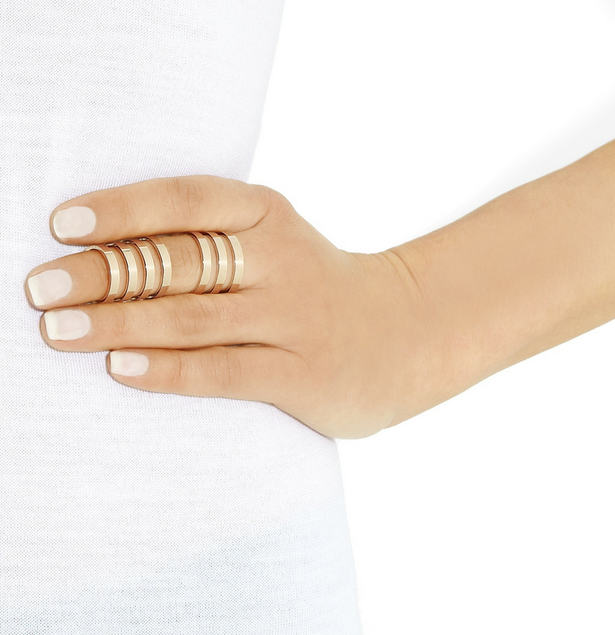 REPOSSI, Berbère 18-karat rose gold link ring