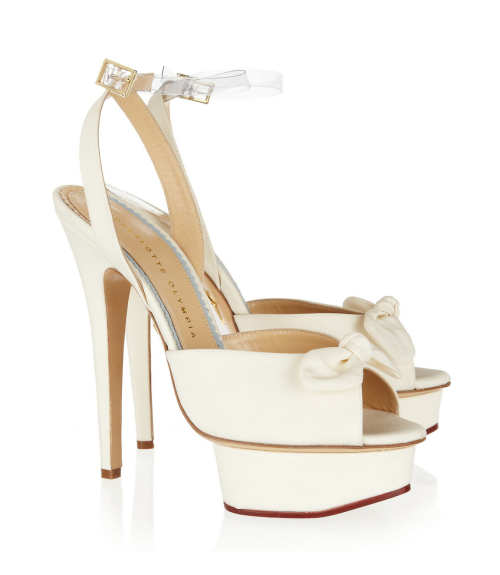 what-do-i-wear:  CHARLOTTE OLYMPIA, Serena silk platform sandals