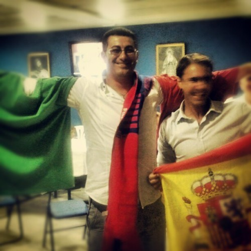 Modo Final ON. #ITA-ESP #eurocopa2012 (Tomada con Instagram)