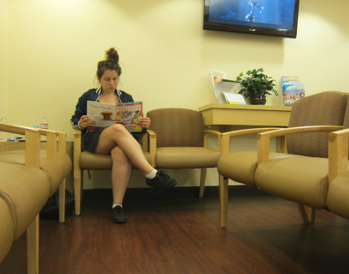 waiting for a psychiatric appointment (by Rebecca A.)