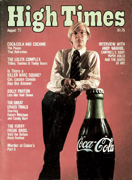 "stellavista:  high times must have been the best magazine ever…or at least this issue. i mean: ""dolly parton lets her hair down"", coca cola, cocaine and robert mitchum?!…come, on!"