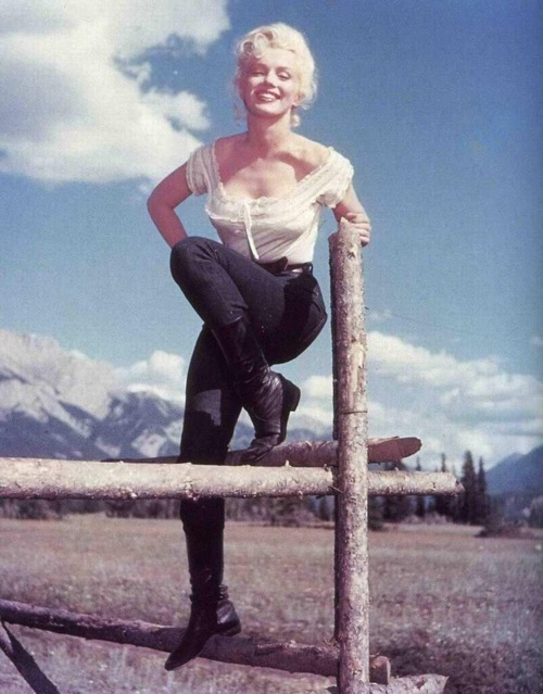 theniftyfifties:  Marilyn Monroe in 'River Of No Return', 1954.