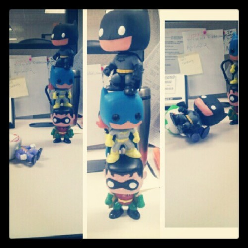 #batman #robin #batgirl #joker #dc #DCcomics #comics #toys  (Taken with Instagram)