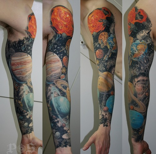 fuckyeahtattoos:  (via My Astronomy sleeve by Geoff at Port Side Tattoo in Vancouver - Imgur)