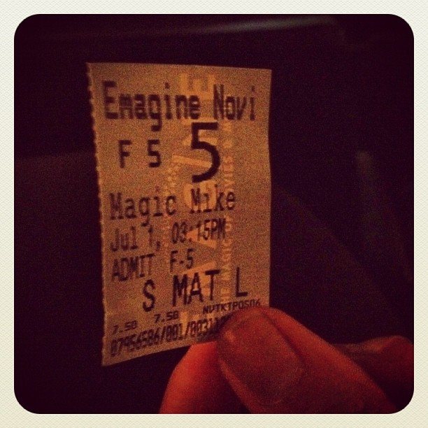 Magic Mike time ;)   (Taken with Instagram at Emagine Novi)
