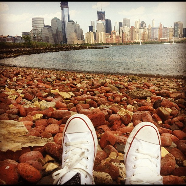 Lazy Sunday on the shore of the Hudson river.  (Taken with Instagram at Colgate Clock)