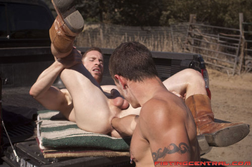 dungeon-boys:   Luke,check out this hot as hell outdoor gay cowboy fisting vid and pic sets, we got to try this sometime!!!