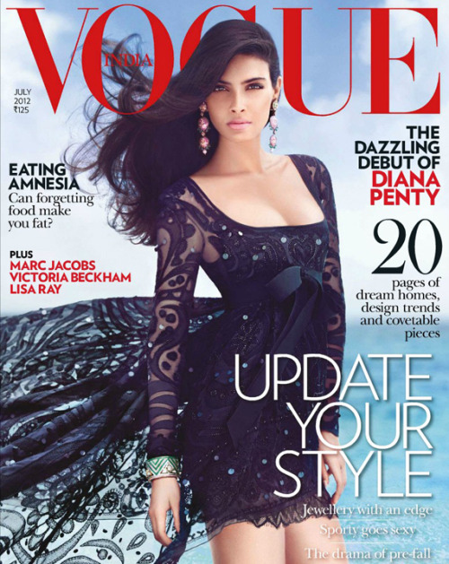 blackstuddedfashion:  Diana Penty covers Vogue India July 2012