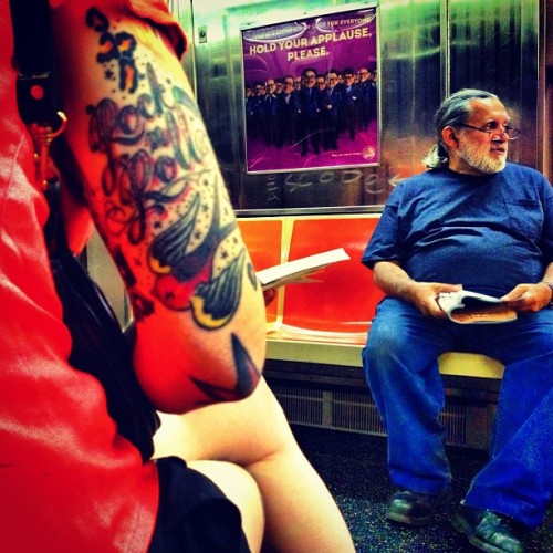 Rock N Roll (G Train, Brooklyn NY) (Taken with Instagram)