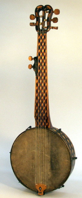 7 String Model Minstrel Banjo (maker unknown), c. 1850's