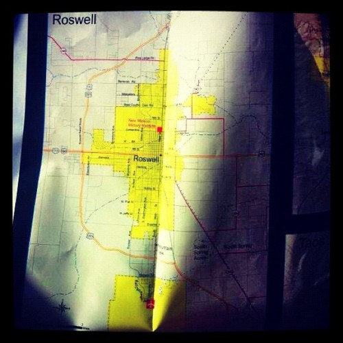dcraver:  Road trip to #area51 #Roswell #newmexico #roadtrip #adventure #secret #jj #mission #map #summer (Taken with Instagram)