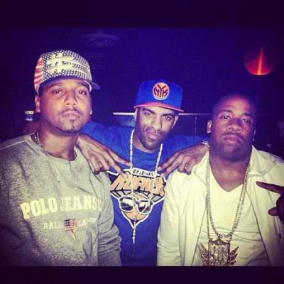 Juelz Santana Rocking Polo Ralph Lauren USA Flag Crewneck