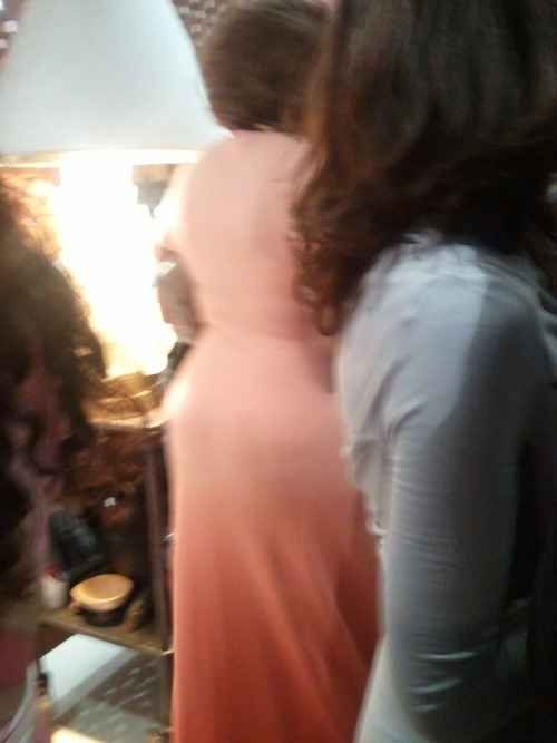 "This is a photo of Gayle King's ass. In a room full of actual ""celebs"" over at Diane Von Furstenberg's in May, I zeroed in on the woman I described to my best friend via text as ""almost Oprah"" and tried to slyly catch a pic, and this is as close a I got. I could have gone over and spoken to her, obviously, as this was a private event with only invited guests, but taking blurry pics on my phone seemed like a better option, apparently. That's just the kind of woman I am."