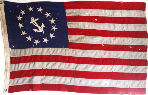 Late 19th Century naval flag from Nantucket Country Antiques I bought a few years ago (an incredible shop!).