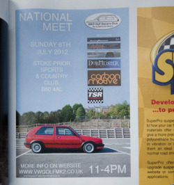 VW Golf MK2 Owners Club Poster, show in the new issue of Golf+.