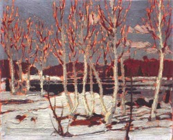 Tom Thomson(1877-1917), April in Algonquin Park, 1917, Tom Thomson Memorial Art Gallery.