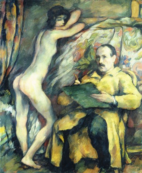snowce:  Karl Hofer, Self-Portrait with Model, 1909
