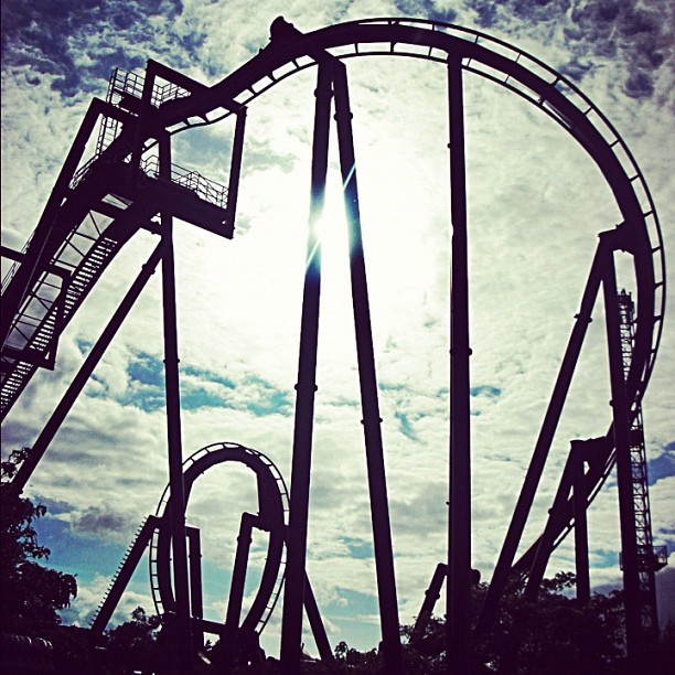 Woo! Thorpe Park!  (Taken with Instagram)