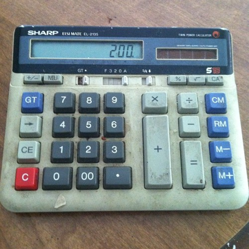 This calculator has been at my grandparents' house FOREVER. (Taken with Instagram)