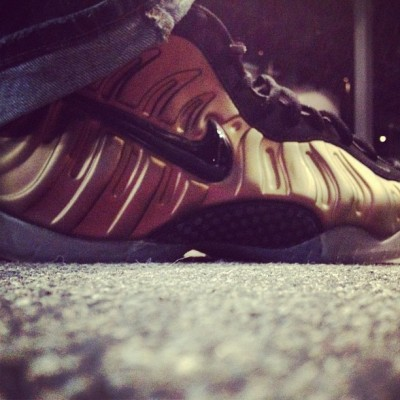 mylifeafterlife:  #gym #green #foamposites (Taken with Instagram)