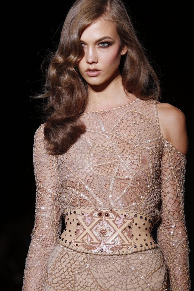 wink-smile-pout:  Karlie Kloss at Versace Haute Couture Fall 2012