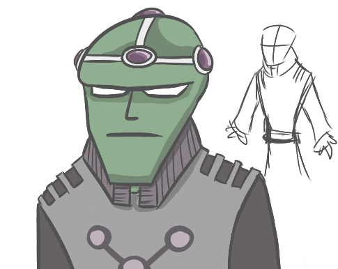 Messing about in sai, I doodled my own version of Brainiac. I might have a proper go and do my take on the rest of the Legion of Doom. I like drawing villains!