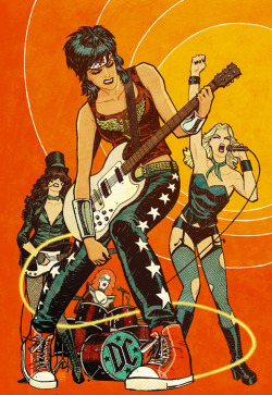 Super Heroins of Rock! couchandcanvas-images:  Cliff Chiang.  Goddamn