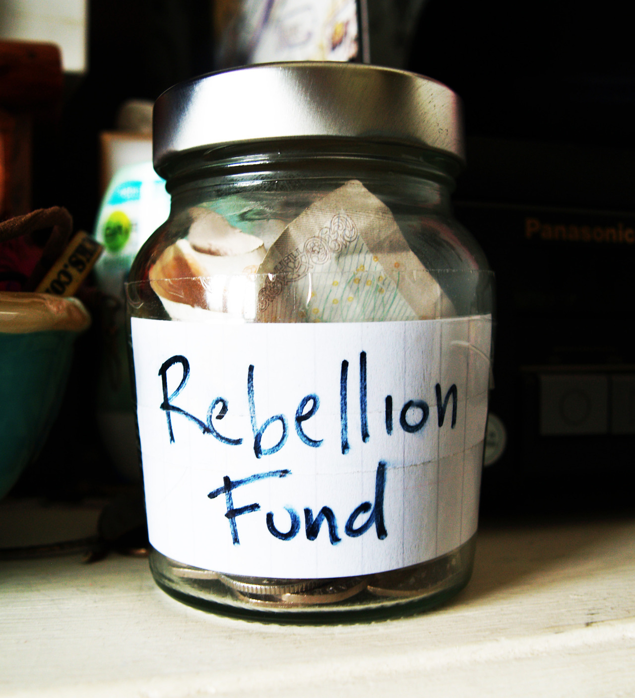 Rebellion Festival Fund! got £15 so far! it is not coming out of that jar. ITS GOING TO BE AWESOME! HAPPY REBELLION YOU HAVE A LOVELY FACE!