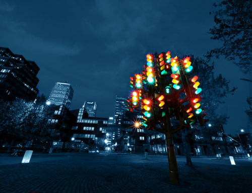 "st:   britaboo:   Pierre Vivant's Traffic Light Tree   Soon to be replanted elsewhere.    (via wharf.co.uk)    The iconic Traffic Light Tree will not be returning to Westferry but will be given a new home nearby.  Tower Hamlets Council is running feasibility studies into two sites. The first is in Millwall Park and the second is on the roundabout by Billingsgate Fish Market, leading away from Canary Wharf.  The iconic piece of art, made up of 75 flashing lights, was moved from the Westferry Road roundabout towards the end of last year when redevelopment work began on the area.  Transport for London has ruled it cannot return as it is putting in a new pedestrian crossing with real traffic lights on the site.  Councillor Gloria Thienel, who has been working with the council to find the tree a new home, said: ""I fought hard to keep it on the Island and am happy with the two locations. ""We don't want it somewhere it can be vandalised or interfere with traffic and I feel both these sites are right.""  The council is now studying which area would be best for the tree. No date has been given on when the report will be completed."
