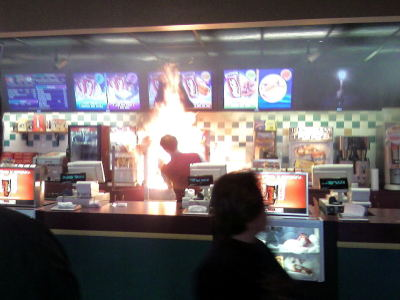 welcome to MCSATAN'S WOULD YOU LIKE FRIES WITH YOUR DAMNATION?   THIS CAN'T BE MCSATANS. THEY ONLY HAVE RC THERE.