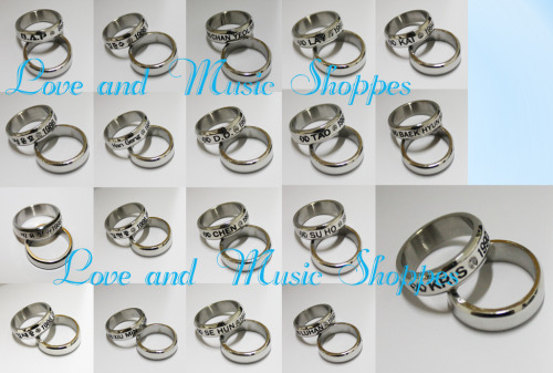 Bias Birthday Rings  Price: $12.00 Shipped US  Designs Available: HERE Size: US 7/8  If you are interested, please fill out an order form ^^ Send the form to: loveandmusicshoppes@yahoo.com Subject: Bias Birthdays (Must be this title or else it will be sent to Ling)   Pre-Order Batch Status (◡‿◡✿)