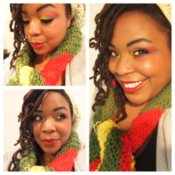 afromatic:  Rasta makeup!!