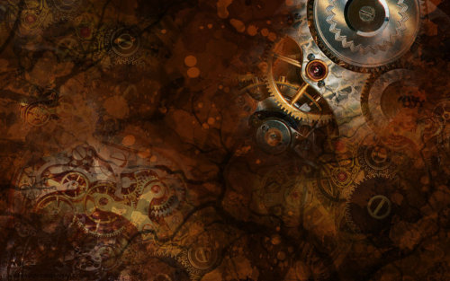 Steampunk Wallpaper by ~FlameRaven