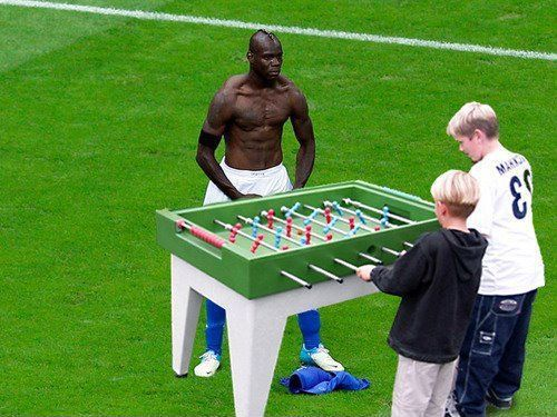 Balotelli will not leave the pitch until he wins the game.