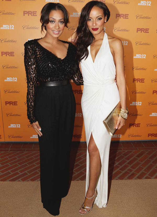 fuckyeahfamousblackgirls:  LaLa Anthony & Selita Ebanks at Debra Lee's Pre-BET Awards Celebration