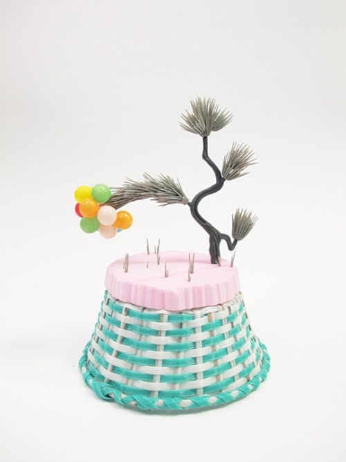 "Amy Santoferraro ""Splendid Grey"" BaskeTREE series Mixed Media"