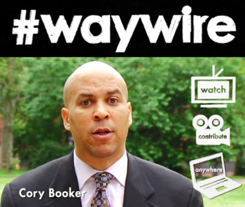 "Welcome to #waywire, the news according to Cory Booker A news website for the new generation: ""Traditional news sources aren't in any way talking to millennials,"" Newark Mayor Cory Booker said. It's a start-up company that aims to connect on the news and issues with the younger generations by using a ton of video content; ""If more people could find their voice and be part of the national dialogue,"" Booker said, ""we could solve these problems."" Sound cool or not? source Follow ShortFormBlog: Tumblr, Twitter, Facebook"